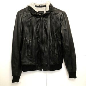 Danier Hooded Leather Jacket Size Small